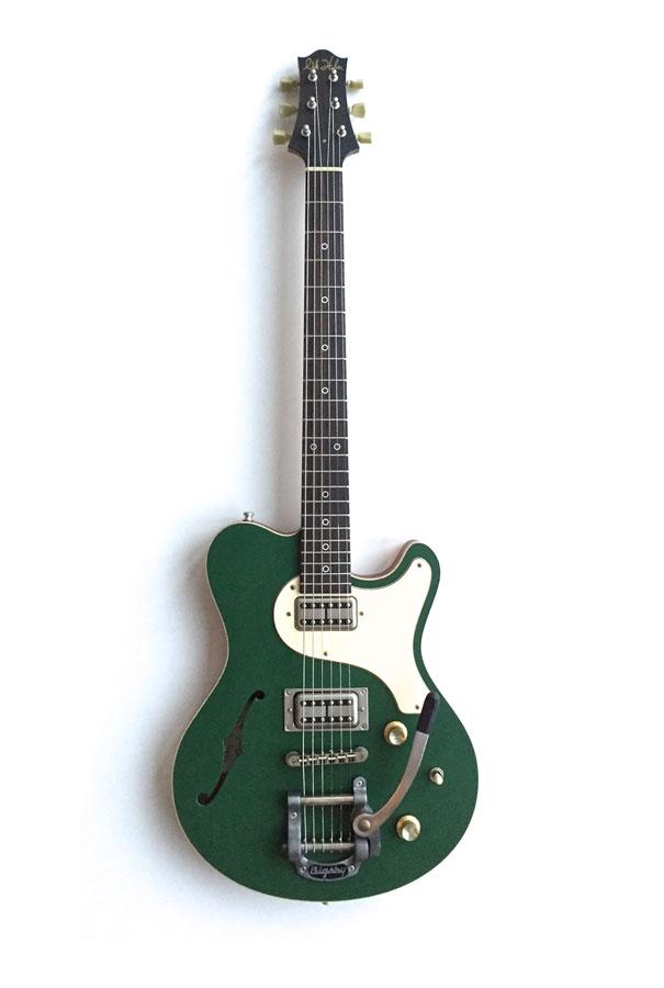 Nik Huber –Surfmeister Custom – Cadillac Green Bigsby