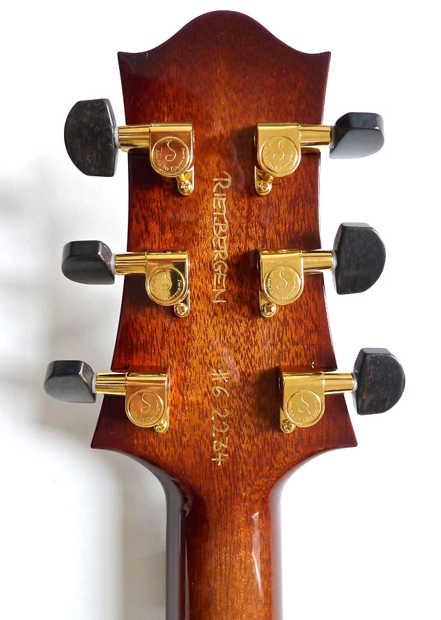 Nik Huber – Rietbergen Custom – Exceptional One-Piece Maple Top - Faded Tobacco Sunburst 4