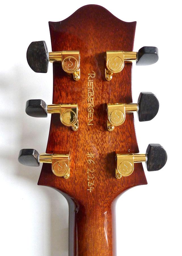 Nik Huber – Rietbergen Custom –Exceptional One-Piece Maple Top - Faded Tobacco Sunburst 4