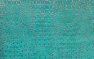 Croco-turquoise